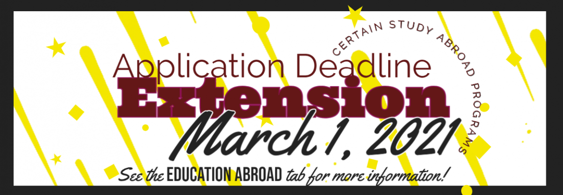 2021 Spring Deadline Application extended to March 1