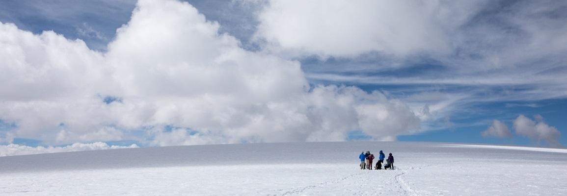 Student on Glacier