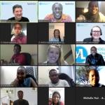 Zoom photo of participants in the 2021 Mandela Washington Fellowship