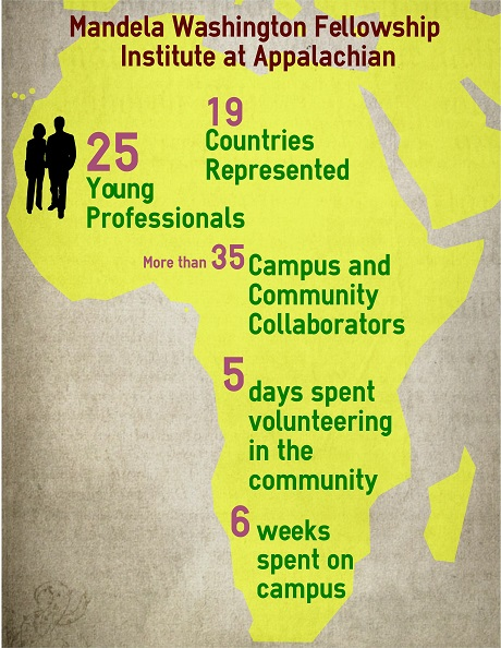 Infographic about the Mandela Washington Fellowship