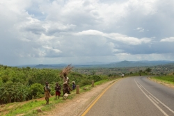 A Malawian landscape viewed from the bus as Appalachian students traveled from the capital of Lilongwe to Lake Malawi.