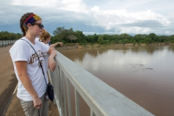 Kathryn Waitt looks at hippos in the South Luangwa River in Zambia.