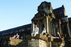 At Ankgor Wat, Cambodia.